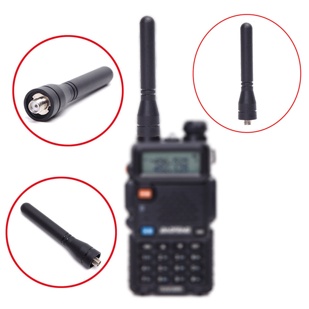 BAOFENG BF 888S Walkie talkie Antenna 400 470MHz VHF/UHF Dual Frequency High Gain 7.5CM Thumb Short Antenna for BF 888S/UV5R-in Walkie Talkie Parts & Accessories from Cellphones & Telecommunications