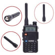 De BAOFENG BF 888S Walkie talkie Antena de 400 470 MHz VHF/UHF de Frecuencia Dual de alta ganancia 7,5 CM el pulgar antena corta para BF 888S/UV5R