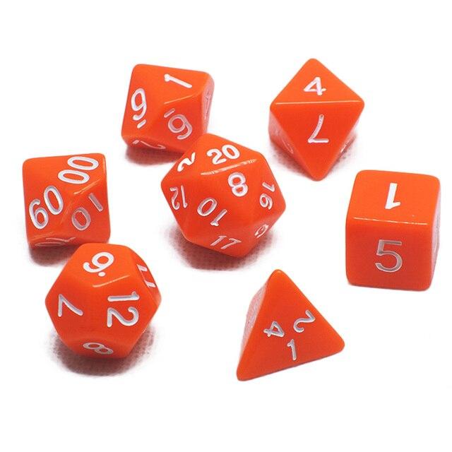 7 pcs Promoção 2-cor de poker Dice Set com efeito Nebulosa d & d d4, d6, d8, d10, d %, d12, d20 Poliédrica Dos Dados, dados do jogo de rpg com saco do opp