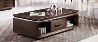 Wooden Coffee Table With Glass Desktop 2015 New Model Tea Table 8093