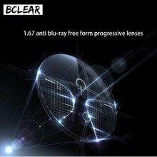 BCLEAR 1,67 рефракторный индекс, анти синий луч, прогрессивные линзы, прозрачный, дальний, средний, Ближний, отрезаемый, синий светильник, очки для защиты глаз, Новинка