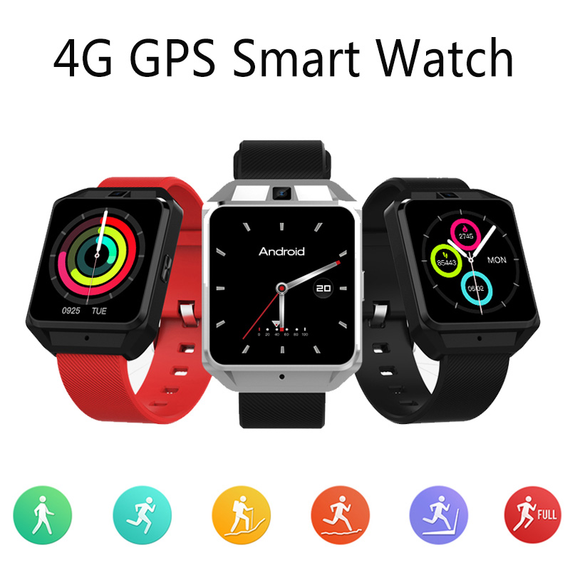 4G Smartwatch Phone 1G RAM 8G ROM GPS WiFi Heart Rate Sleep Monitor Smart Watch Fitness Men Women with Camera For IOS Android