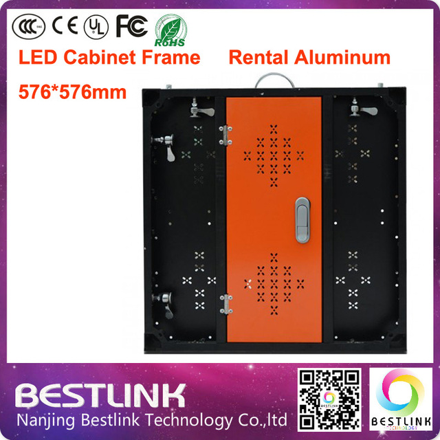 led cabinet supply aluminum profile led cabinet frame 576*576mm for rental screen board full color led display led video wall