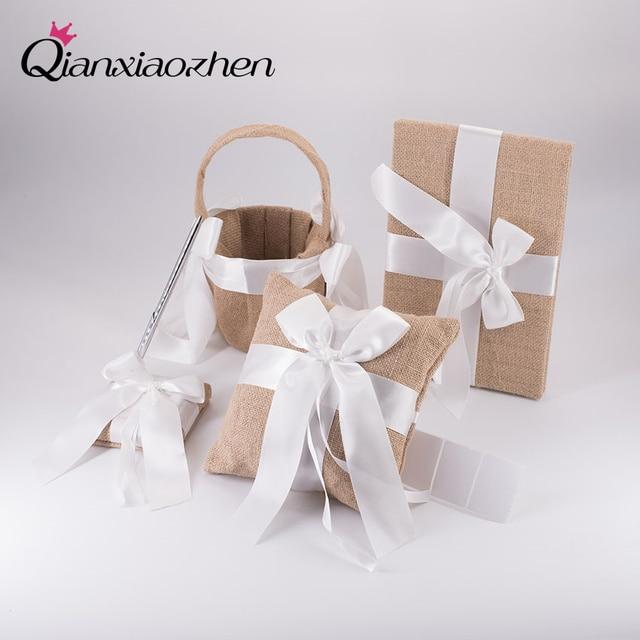 Qianxiaozhen 4pc Heart Design Wedding Collection Set Wedding