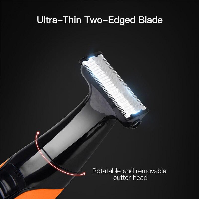 Электрический эпилятор для удаления волос, перезаряжаемая бритва, триммер для бровей, моющийся 0,2 мм лезвие из нержавеющей стали, бритва для...