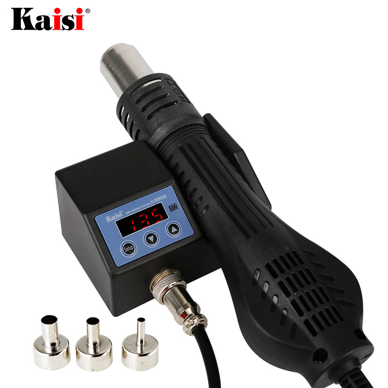 Kaisi 8858 220V 110V Portable Heat Hot Air Gun BGA Rework Solder Station Better Hand held