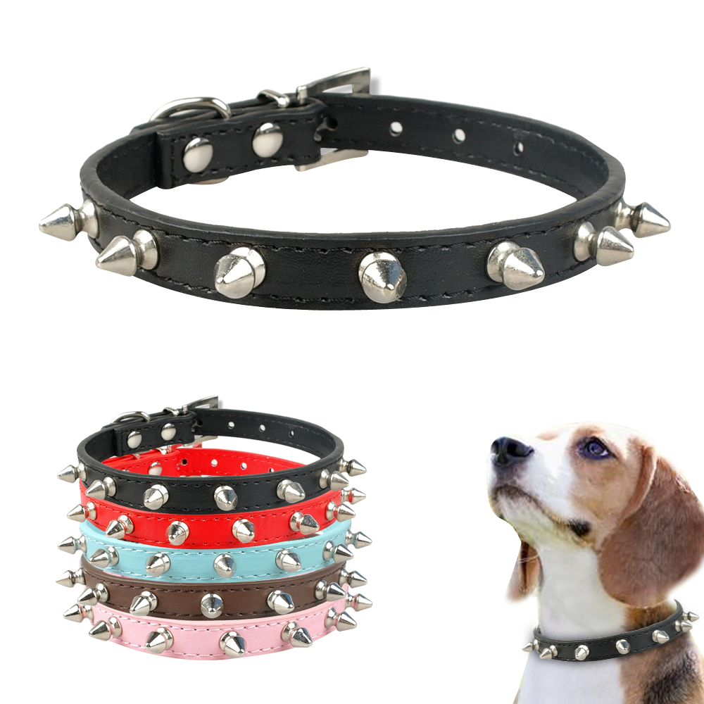 chihuahua collars 1 row cute rivets studded dog collar puppy cat collars for 6434