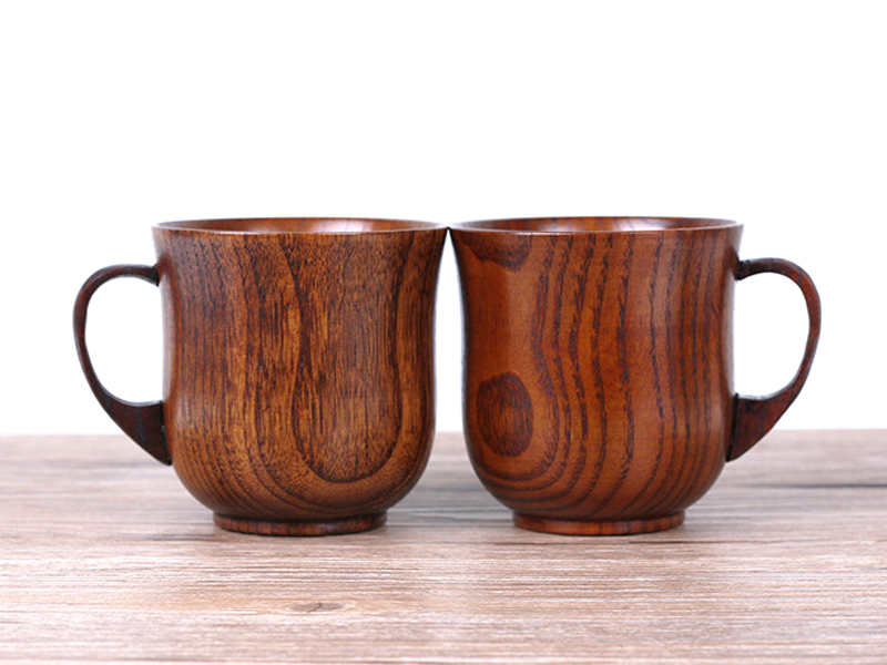 250ml Jujube Wood Mug Japanese Style Wooden Tea Cups with Handgrip Hand-made Wood Cups for Coffee Milk Home Bar Drinking Cups (8)