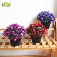 WCIC пластиковые поддельные растения ваза для бонсай цветок искусственное свадебное украшение искусственные розы цветы имитация зеленого р...