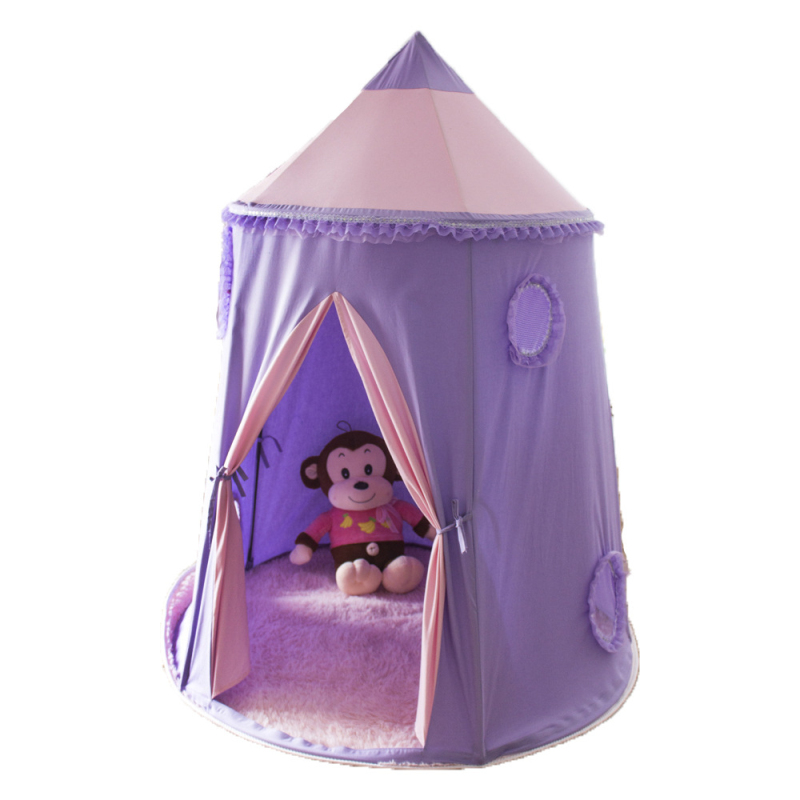 Teepee Tent Tipi Tent for kids purple Children Play house Toy Kids Tents baby room Cartoon Indoor Outdoor Play Folding Tent foldable kid indoor tent kids outdoor playhouse children kids tent toys play tent game house indian teepee