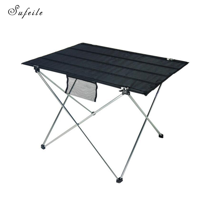 SUFEILE En Alliage D'aluminium Oxford Table Pliante Portative Extérieure Petite Table Table De Pique-Nique de Camping En Plein Air décontracté Barbecue D20
