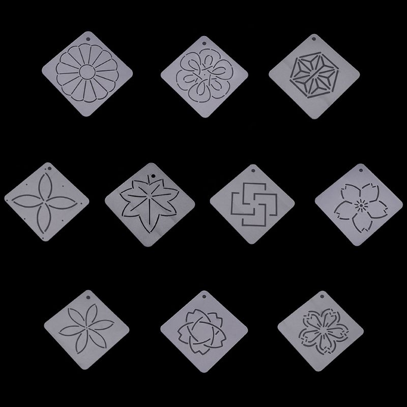 5 Design Plastic Stencil Quilting Template for DIY Patchwork Sewing Craft Tool