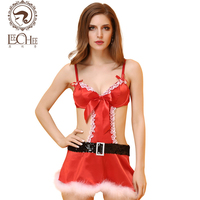 Leechee Y113 sexo קוספליי מדים חג המולד סקסי חם ארוטי הלבשה תחתונה קלע חגורה קשת פיתוי תחתונים ארוטיים חנות סקסית