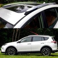 1 набор, пригодный для Toyota RAV4 XA40 Алюминий сплава серебра Боковые Бары рейлинги стойку Чемодан аксессуары носителей 2013 2016 2017 2018