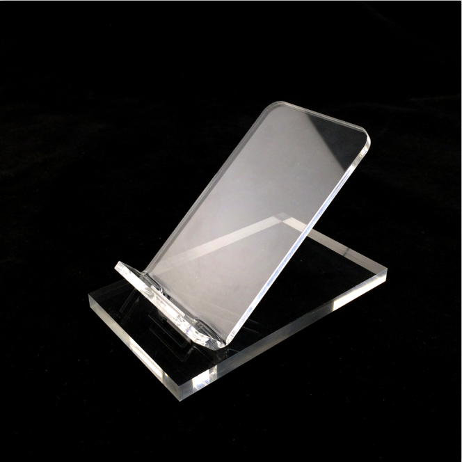 High grade acrylic large screen cell phone display rack
