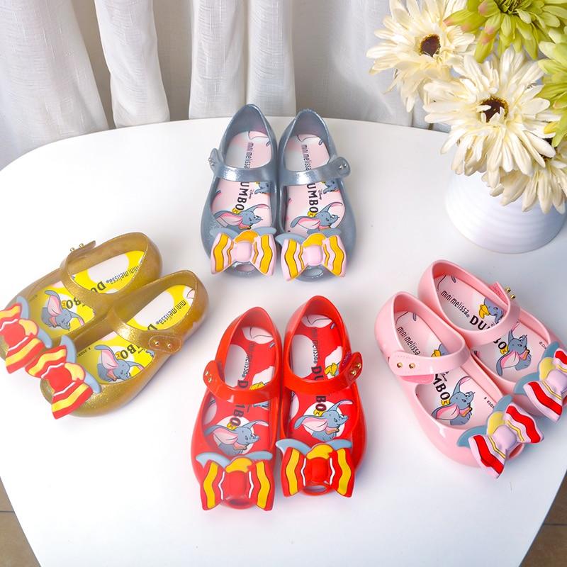 Mini Melissa  Ultragirl 2020 New Original Girl Sandals Brazil Jelly Sandals Non-slip Kids Beach Sandal Toddler 14-19CM