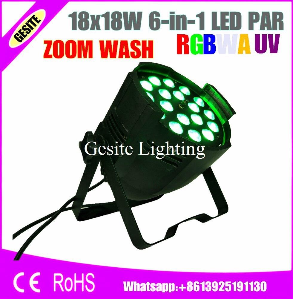 Free Shipping 4pcs/Lot zoom led par 18x18w 6in1 led par light/disco light par led rgbwauv