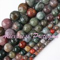 "Round Indian Aagte Multicolor Faceted Natural Stone Beads 15"" 4,6,8,10,12,14mm For DIY Necklace Jewelry Making,Free Shipping"
