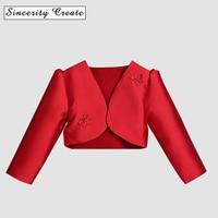 New Baby Girls Bolero Fashion Formal Short Jacket for Girls Design Girls Wedding Dress Cape Girls Party Bolero outwear KC-1814