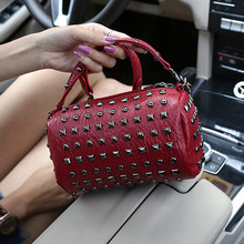 Ciezun Kisoer carteras mujer de hombro 2017 new girl bag punk PU rivet handbag trend fashion chain single shoulder slanting bag