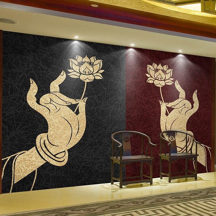 3D photo wallpaper 3D Southeast exotic Thai girl Buddha large mural ...