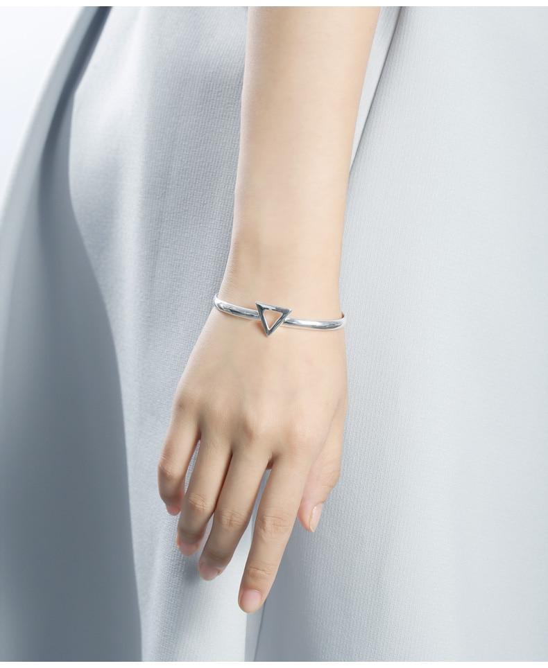 c03dad1bd89 SA SILVERAGE 925 Sterling Silver Triangle Bracelets & Bangles for ...