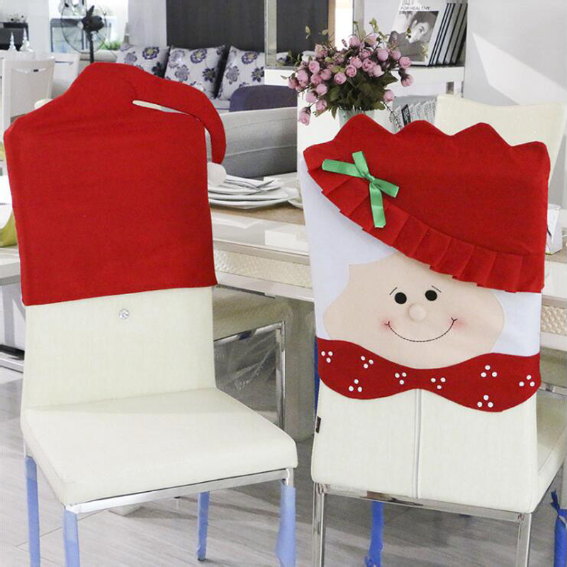 4pcs Lot Lovely Mr Mrs Santa Claus Christmas Kitchen Chair Cover Seat Back Coat For Dinner Decor Free Shipping In From Home