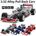 1:32 aleación de coches, F1 fórmula uno de carreras modelo de simulación de alta, de metal a troquel, automóviles de juguete, tire hacia atrás de moviles y musicales, envío libre