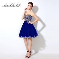 Vintage Short Cocktail Dresses Sweetheart Beaded with Embroidery Crystals Above Knee Length Homecoming Party Gowns A Line lx028