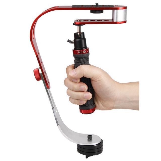 DSLR Camera Mini Stabilizer With Smartphone Clamp
