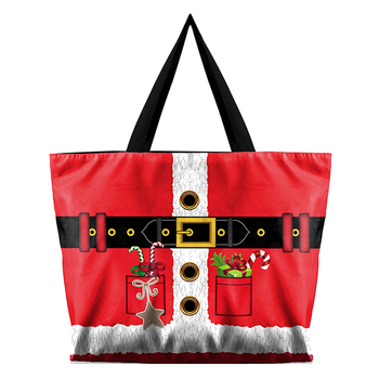 Fashion High Quality Printing Red Casual Canvas Tote Bag Women Shoulder Bags Handbag