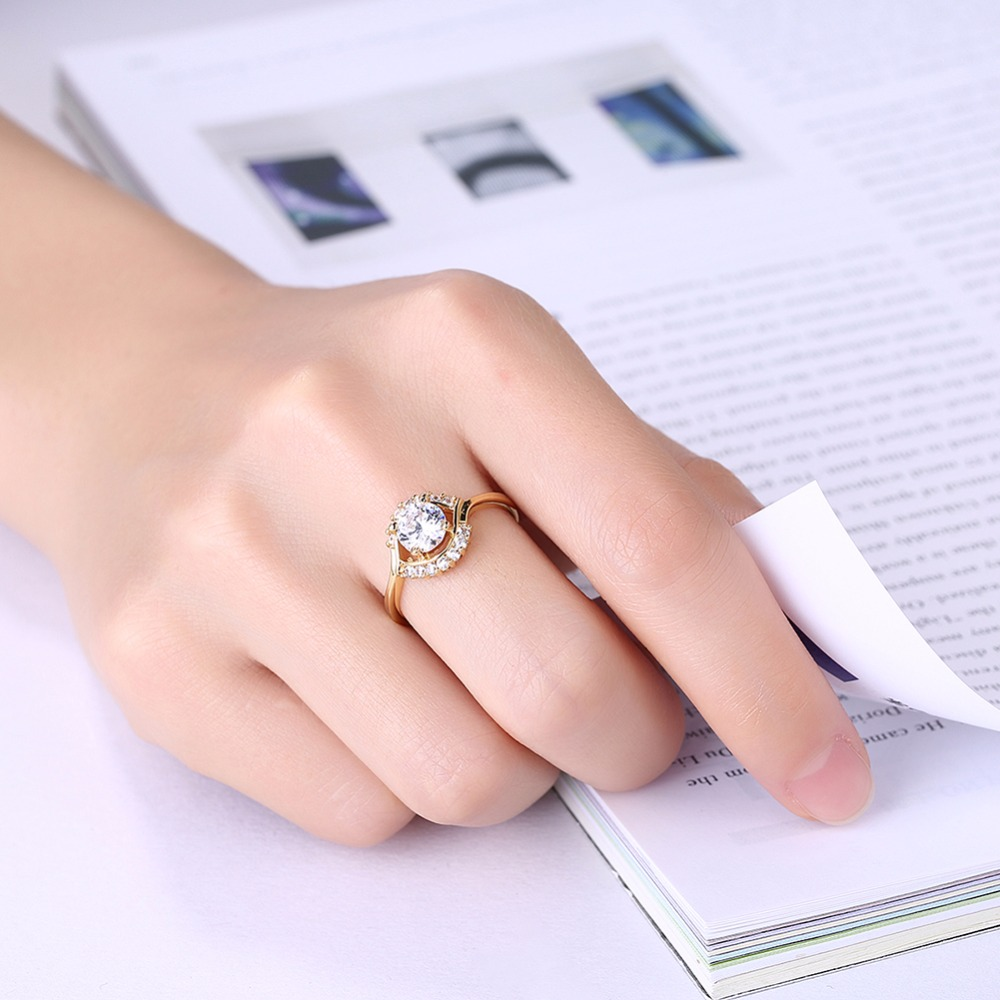 Muti Color Wedding Engaged Rings For Women Female Bridal Alliance ...