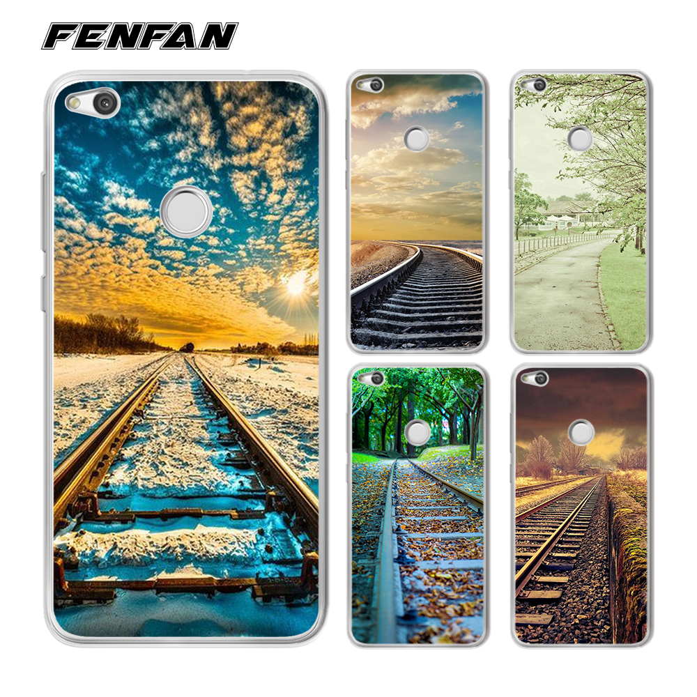 For coque Huawei P9 lite 2017 case Railway scene Soft TPU for fundas Huawei P Smart case arrivals for Huawei honor 9 lite case