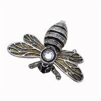 YAFFIL Jewelry Box Dragonfly Shape Animal Zinc Alloy Jewelry Box 2018 Crystal Diamond Rhinestone Trinket Box For Keepsake Gifts
