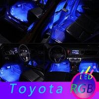 Автомобильные RGB светодиодный декоративные лампы для интерьера для Toyota Camry RAV4 CHR Corolla Yaris Auris Prado 125 150 2019