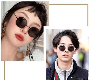 64b1f22097 Nueva Marca diseñador clásico polarizado gafas de sol redondas de los hombres  Vintage Retro John Lennon