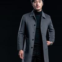 Ручной работы кашемир Для мужчин; Длинные куртки зимние теплые и удобные высококачественные Костюмы Для мужчин Пальто для будущих мам лево