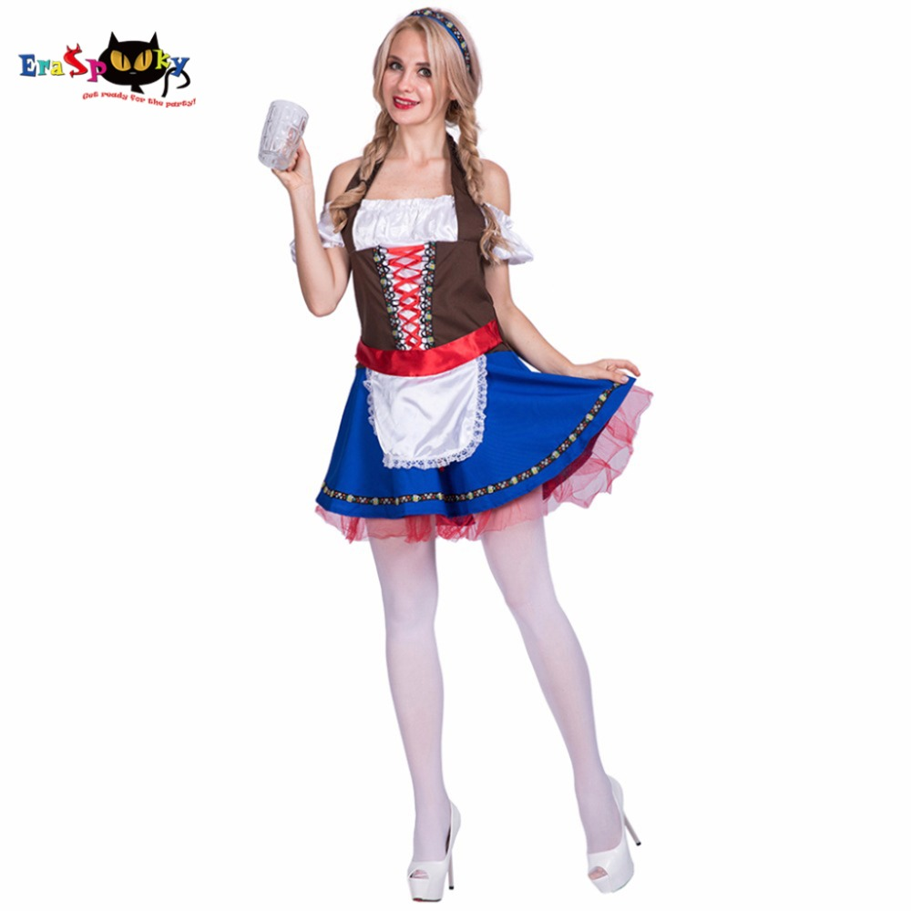Women Sexy Hot Oktoberfest Beer Girl Maid Waitress Costume Cosplay Party Fancy Dress for Female Adult Lady Halloween Costumes