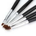 5 Sizes Professional Acrylic Nail Art Brush Set Perfect Use For UV Gel Builder Nal Brushes Hot Selling