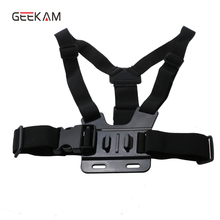 Geerkam For Accessoires gopro Adjustable Chest Strap Belt With Black Tripod Harness Mount For GoPro Hero 5 4 3 sj4000 Xiaomi yi