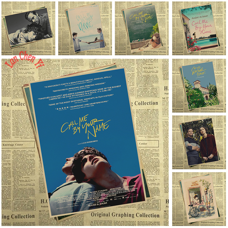 Award Winning Film Call Me By Your Name Kraft Paper Poster Bar Cafe High Quality Printing Drawing Core Decorative Painting