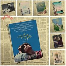 Bekroonde Film Call Me Door Uw Naam Kraftpapier Poster Bar Cafe Hoge Kwaliteit Afdrukken Tekening Kern Decoratief Schilderen