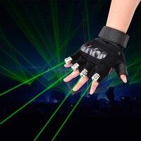 Laser màu xanh lá cây Glow Găng Tay Nhảy Múa Sân Khấu Trình Diễn Ánh Sáng Với 4 Cái Lasers Và LED Palm Đạo Cụ Ánh Sáng Cho DJ Câu Lạc Bộ/Bên/Quán Bar MỸ EU cắm