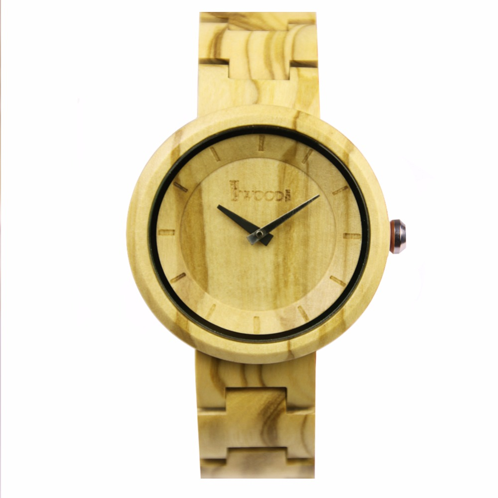ФОТО Hot Watch Fashion Women Watches Bamboo Wooden Wristwatch With Genuine Cowhide Leather Strap Wooden Watches For Women