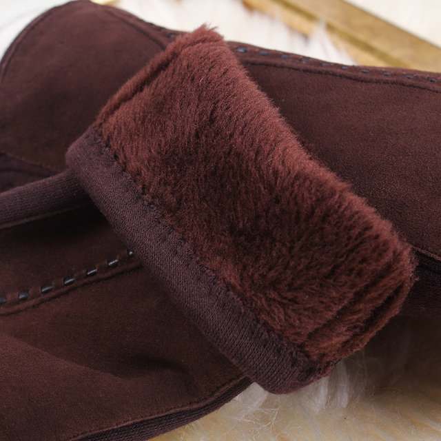 REALBY Women Thicker Gloves Winter Luvas de inverno Guantes Mujer Formal Gloves Suede Mittens Elegant Warmer&Soft Gants Femme 5