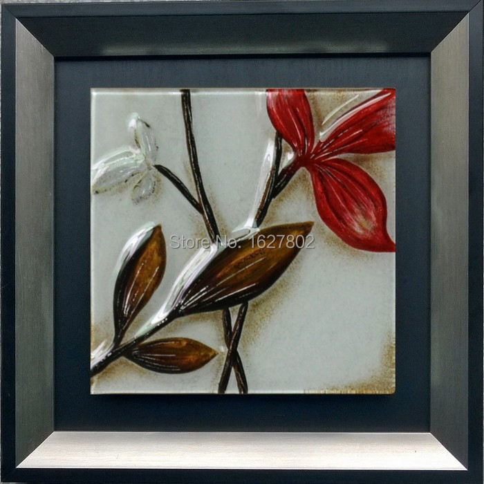 Incroyable Beautiful Handmade Framed Leave Glass Wall Art Paintings Designs For Living  Room Home Decor In Painting U0026 Calligraphy From Home U0026 Garden On  Aliexpress.com ...