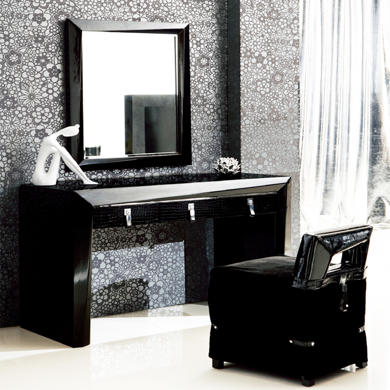 Modern Dressing Table With Stool And Mirror Cbaarch