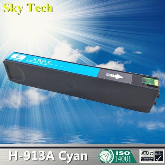 Cyan Pigment Ink Cartridge For HP913A Cyan , For HP PageWide 352dw 377dw Pro 452dw 452dn 452dwt 477dw MFP 477dwt 552dw все цены
