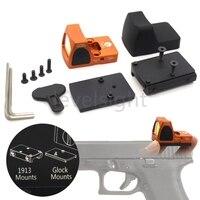 Тактический RMR Reflex Red Dot Sight 3,25 MOA Scope для Glock Охота Fit 20 мм Pictinny Rail Крепления спортивные платные