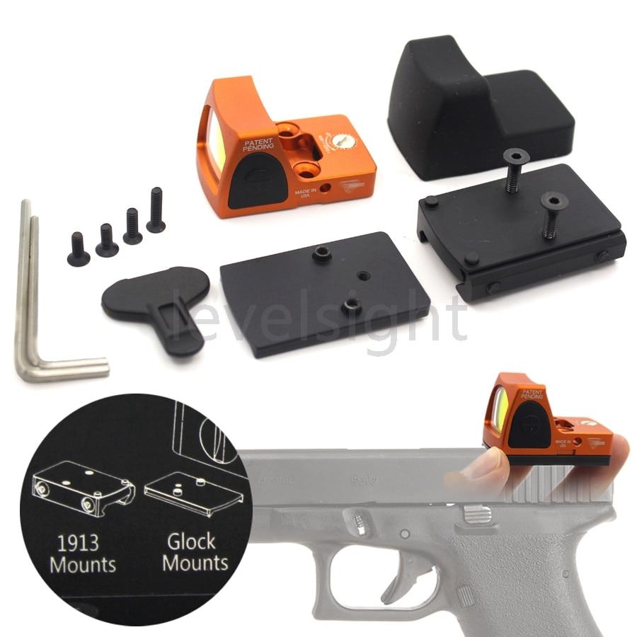 RMR Reflex Red Dot Sight 3.25 MOA Escopo tático para Glock Caça Fit 20mm Pictinny Rail Mounts Esporte Pedágio